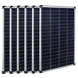 Richsolar 6 Pieces 100 Watt Polycrystalline 100W 12V Solar P