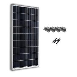 Renogy 100W 12V Poly Solar Panel Expansion Kit Z Bracket MC4