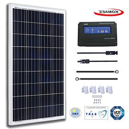 KOMAES 100 Watts 12Volts Polycrystalline Solar Panel With En