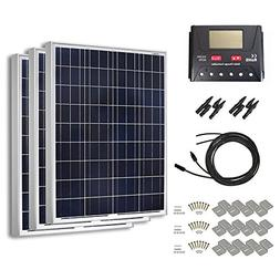 HQST 300 Watt 12 Volt Polycrystalline Solar Panel Kit with 3