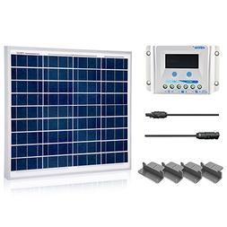 ACOPOWER 50 Watt 12 Volt Polycrystalline Solar Panel Kit wit
