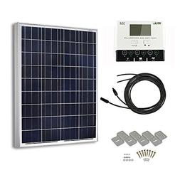 HQST 100 Watt 12 Volt Polycrystalline Solar Panel Kit with 3