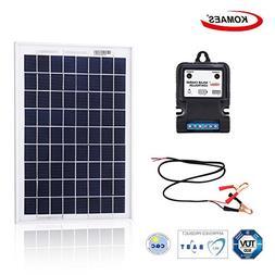KOMAES 10 Watt 12Volt Polycrystalline Photovoltaic PV Solar