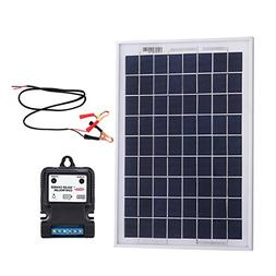 Komaes 100 Watts 12 Volts Polycrystalline Solar Panel Kit wi