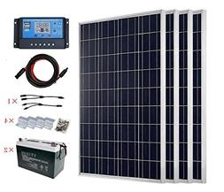 ECO-WORTHY 400W Polycrystalline Solar Panel Kit Off Grid: 4p
