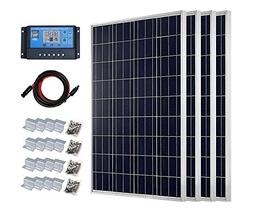 ECO-WORTHY 400 Watt Polycrystalline Solar Panel Starter Kit