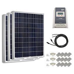 HQST 300 Watt 12 Volt Polycrystalline Solar Panel Kit with 4