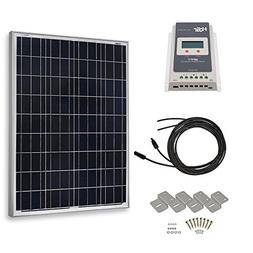 HQST 100 Watt 12 Volt Polycrystalline Solar Panel Kit with 2