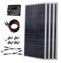 ECO-WORTHY 600W 24V Polycrystalline Solar Panel Kit: 4pcs 15