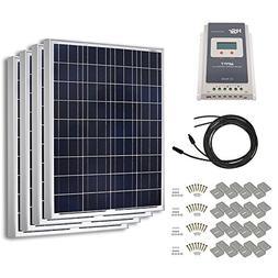 HQST 400 Watt 12 Volt Polycrystalline Solar Panel Kit with 4