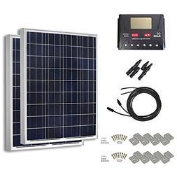 HQST 200 Watt 12 Volt Polycrystalline Solar Panel Kit with 3