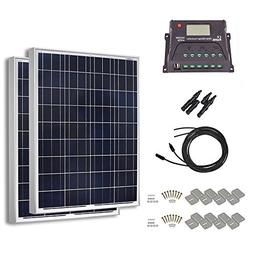 HQST 200 Watt 12 Volt Polycrystalline Solar Panel Kit with 2