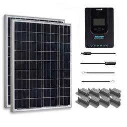Renogy 200 Watt 12 Volt Polycrystalline Solar Starter Kit wi