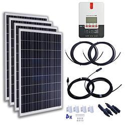 KOMAES 400 Watt 24 Volt Polycrystalline Solar Starter Kit wi