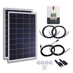 KOMAES 2pcs 100 Watt Polycrystalline Solar Panels 12 Volt Ba