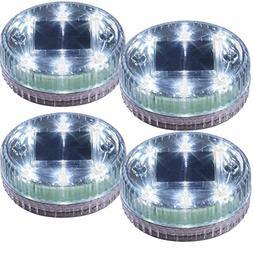 POPPAP Pond Lights Water Floating Solar Light 6 LED Round Gr
