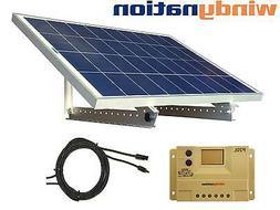 Portable 100 Watt 100W 12V Solar Panel Kit + Mount RV, Cabin