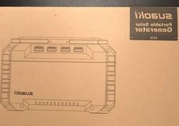 Suaoki Portable 150Wh Solar Generator; 4-USB
