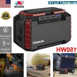 Suaoki Portable 150Wh Solar Generator Fast-Charging Emergenc