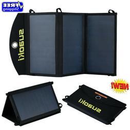 Portable 20W Dual USB Flexible Solar Panel Battery Charger C