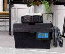 Portable 2500/5000 Watt Solar Generator 100AH Battery +  100