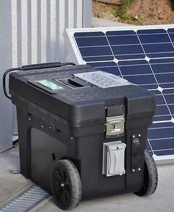 Portable 5000/2500 Watt 100 Ah Solar Generator & 100 Watt So