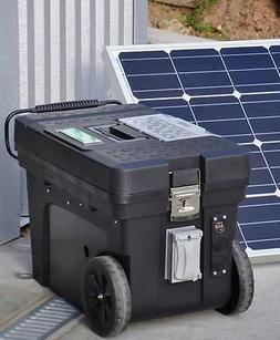 Portable 5000/2500 Watt 100 Ah Solar Generator & 100 Watt So
