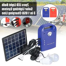 Portable 5W Home Lighting Solar Panels Charging Generator Po
