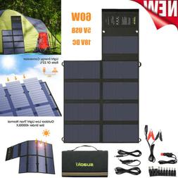 Suaoki Portable 60W 18V Solar Charger Battery Panel Charger
