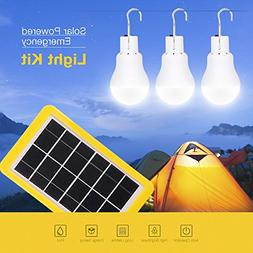 Portable Outdoor Camping Hiking 3W Light Control Solar Panel