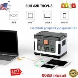 Suaoki Portable Solar Power Station Generator USB Type-C Cha