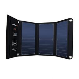 Portable Dual USB Solar charger 21W Waterproof SunPower Sola