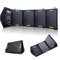 Portable Foldable Solar Charger - 14 Watt, 18/12/5 VDC, USB,