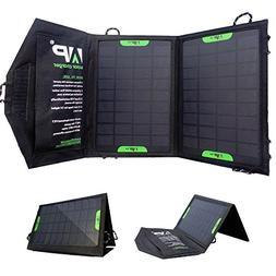 Portable Foldable Solar Charger - 8 Watt, 5 VDC, Dual USB, B