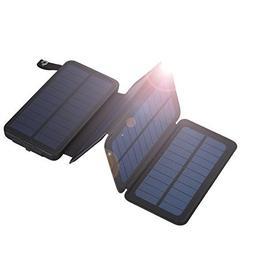 FLOUREON 10000mAh Portable Foldable Solar Panel Charger Powe