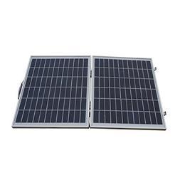 ECO LLC 50W 12V Portable Folding Poly Solar Panel for Home O