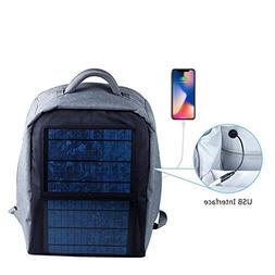 SUNKINGDOM Solar Backpack - Waterproof Anti-Theft Solar Powe