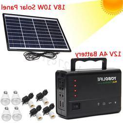 Portable Home Outdoor Lighting Solar Panels Charging Generat