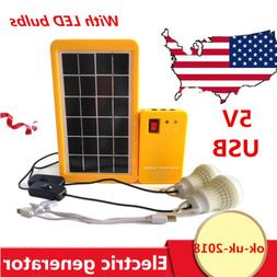 Portable Home Outdoor Lighting Solar Panels Generator Power