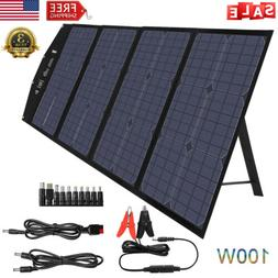 100W Solar Charger Foldable Solar Panel Power Bank Station M
