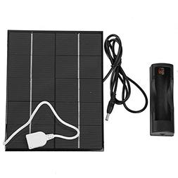 5V 3.5W Portable Mobile Solar Charger Panel PowerBank with F