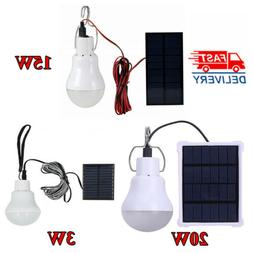 Portable Outdoor LED Solar Power Tent Lamps Panel Yard Campi