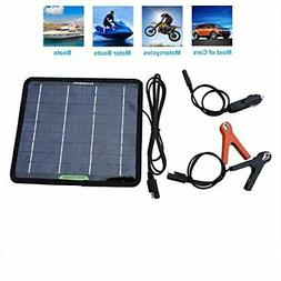Portable Power Solar Panel Battery Charger Backup 12 Volts 5