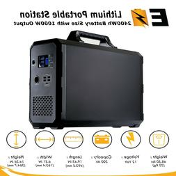 Portable Power Station 2400Wh Lithium | 12V 200Ah Battery in