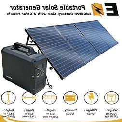 Portable Power Station/Solar Generator, 1800Wh Lithium Power