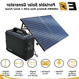 Portable Power Station/Solar Generator, 1800Wh Lithium Power