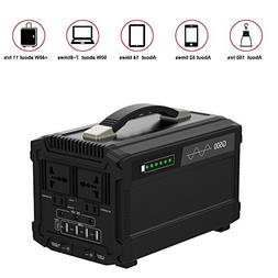 500W Portable Power Station Solar Generator Lithium 444Wh Ho