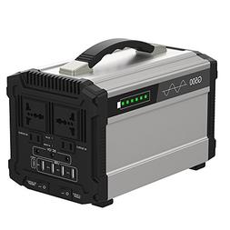 500W Portable Power Station Solar Generator Lithium 444Wh Ho