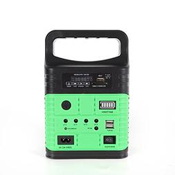 Portable Rechargeable Solar Generator System Kit Power Inver