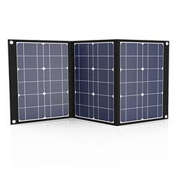 Tishi Hery 50W Portable Solar Panel 18V 12V Foldable Monocry